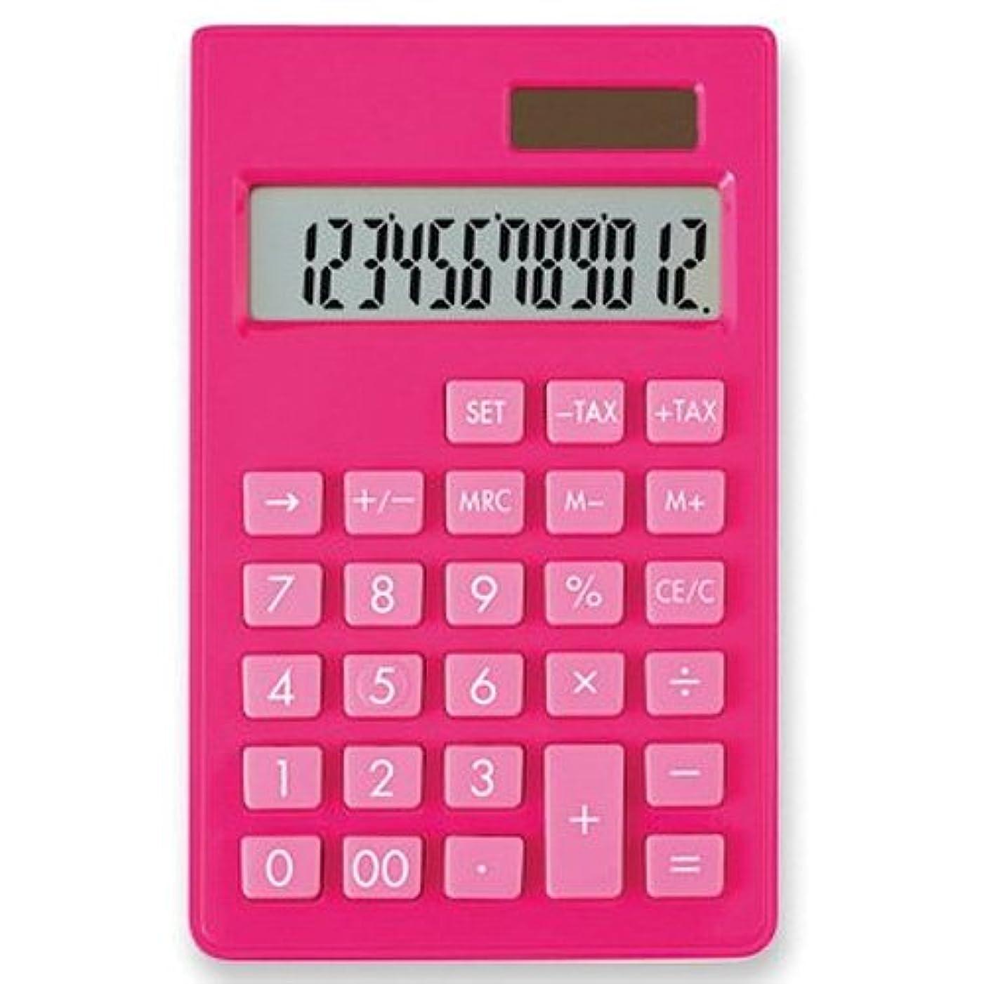 誕生首謀者まどろみのあるアスカ カラー電卓 ポケット ピンク C1237P 【まとめ買い3個セット】