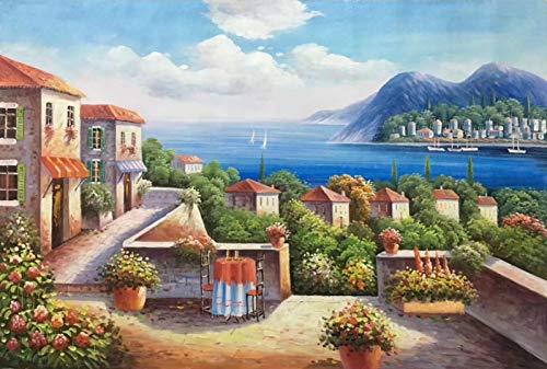 Puzzle 1000 piezas Cuadro decorativo paisaje mediterráneo puzzle 1000 piezas clementoni Juegos familiares para adultos divertidos para niños Rompecabezas de juguete de descomp50x75cm(20x30inch)