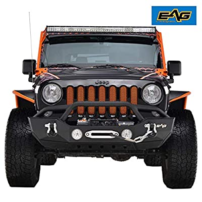 07-18 Jeep Wrangler JK Front Bumper With Fog Light Hole
