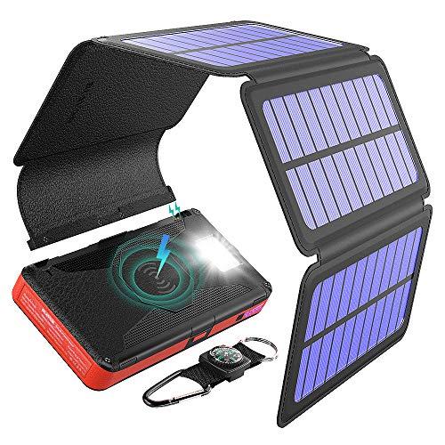 #5 Blavor 20000mah con 5 Paneles Solares + Wireless