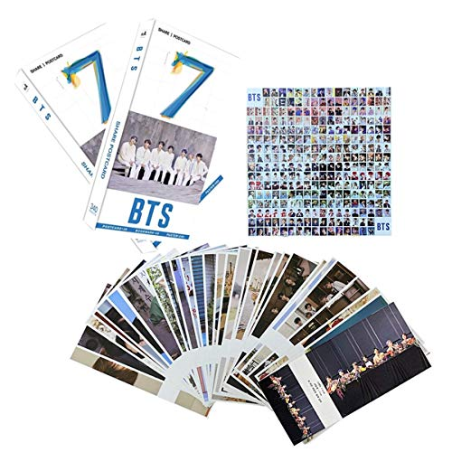 340PCS BTS PhotoCards Set Perfect for Army Daughter(30PCS BTS PhotoCards Postcards,30PCS BTS Lomo Cards,280PCS BTS MiniStickers)(Grey)