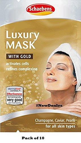 10 x Schaebens Luxus Maske - aktiviert die Zellen & verfeinert den Teint (10 x 2 x 5mL für 20 Anwendungen)