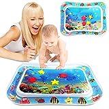 Tummy Time Baby Wasserspielmatte Dinosaurier Form Säuglinge & Kleinkinder, Aufblasbare Spielmatte Spielzeug, Bauchwassermatte für Babys sensorische Entwicklung und Stimulation Wachstum