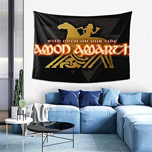 Hdadwy Amon Amarth with Oden On Our Side Tapestry Wall Mounted Tapestry Home Decoration Tapestry Living Room Bedroom Wall Art 60 x 40 Inch One Size