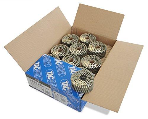 Tacwise 0777 Nagelspule Ring Geradflächig Glatt Verzinkt ( 2,8/50mm ,4.000 Stück pro Verpackung)