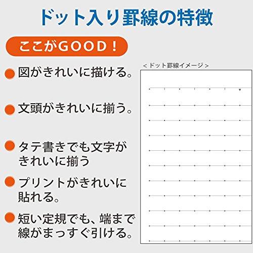 コクヨ ノート キャンパスノート スマートキャンパス 5色パック セミB5 ドット入り A罫 ノ-GS3CATX5
