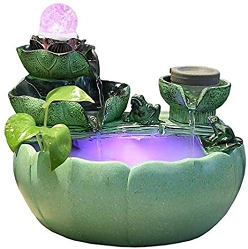 XBR Creativity Indoor Water Fountain,Desk Waterfall,Bonsai humidifier hydroponic Flower Pot Atomizer feng Shui Home Decoration Lucky Gift