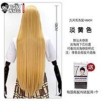 HSIU100Cmロングステイトコスプレウィッグ耐熱人工毛アニメパーティーウィッグ26色カラフルF