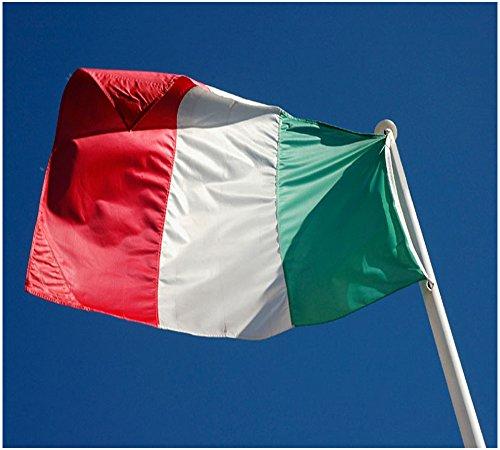 Hemore - Bandera de Italia (150 x 90 cm, poliéster), diseño de bandera italiana