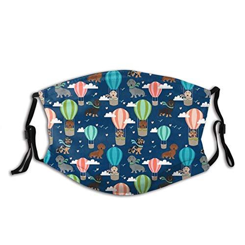 haiyou Heißluftballon Hunde Gesichtsschutz Mit Filter Poet Waschbares Gesicht Sturmhaube Wiederverwendbarer Stoffbezug Für Männer Frauen