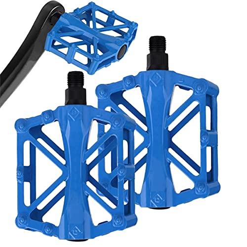 SOWELL Bicicletta Pedali, Pedali in Lega di Alluminio Mountain Bike Pedali con Anti-Skid Chiodo per BMX/MTB Bike, City Bike (Blu)