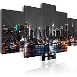 JWBOSS 5 Panels New York - Cuadro de Lienzo, Pintura al óleo, decoración de Oficina y Nueva York,...
