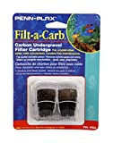 "Penn-Plax Filt-a-Carb Activated Carbon Media Cartridges (2 Pack) – Fits Multi-Pore and Undergravel ""E"" Filters – Provides Chemical Filtration fish tank decorations Apr, 2021"