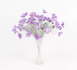 Miss X DIY 2pcs Artificial Flower Luxury Silk Cosmos Flower Living Room Decoration Flower Fake Flower Arrangement (Purple)