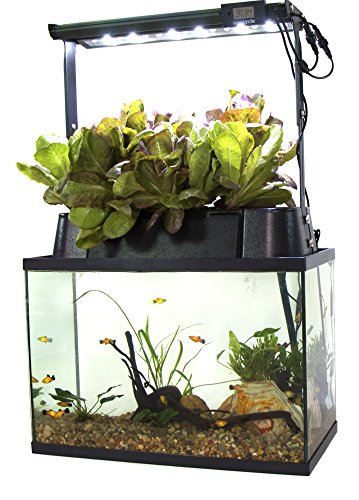Ecolife ECO-Cycle Aquaponics Indoor Garden System with LED Light Upgrade