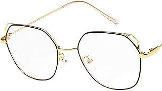 Unisex Glasses Frame Retro Gold Pink Oval Full Frame Decoration Prescription Glasses
