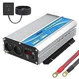 Convertisseur 12V 220V 230V 2000W Onduleur à Onde Modifiée Transformateur avec Télécommande et Double AC Prises & Affichage LED & Grande Coquille pour Voiture de Camion GIANDEL