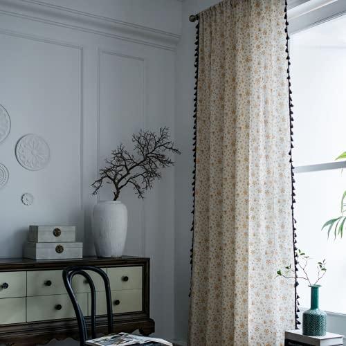 1 pezzo bianco abbronzante campanelli eolici tende per finestra semi-oscurante per soggiorno camera da letto, stile asta di usura 59 'W x 63' L (150x160 cm)