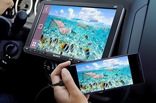 Sony XAV-AX8050ANT,1 DIN mit 9 Zoll Touchscreen, CarPlay, Android Auto, Weblink 2.0, DAB+, Inkl. Antenne, Bluetooth