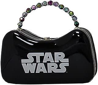 Star Wars Original Logo Beaded Handle Tin Metal Purse Tote Carry-All, Black & Silver