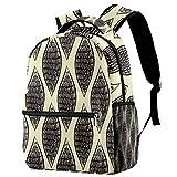 Mochila abstracta dibujada a mano negra con husillo escolar, mochila de viaje casual para mujeres, adolescentes y niñas