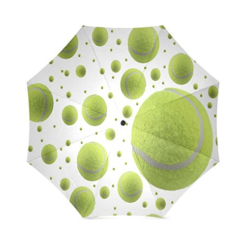 Best Friends/Sisters/Brothers Gifts Novelty Tennis Ball Folding Windproof outdoor Travel Umbrella for Women