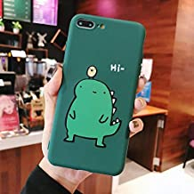OUYAWEI Portable For Couple Cute Cartoon Yellow Green Small Dinosaur Mobile Phone Protection Shell Phone Case Phone Cover For OPPO ArmyGreen OPPO K1/R15X