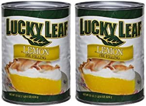 Lucky Leaf Premium Lemon Pie Filling or Topping (Pack of 2) 22 oz Cans