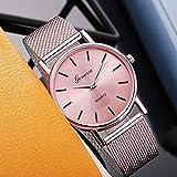 Orologi Polso Orologio da Donna Unisex Watch Watch Fashion Quartz Chronograph Orologio da Polso da Polso da Uomo Guarda Quarzo Cronometro (Color : Pink)