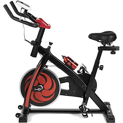 Heimtrainer Fahrrad - Mit Computer Display, Ergometer, Max 150 Kg, Sitz Und Griff Verstellbar - Fitnessbike Speedbike Mit Flüsterleise Riemenantrieb-Fahrrad Ergometer