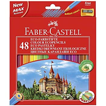 Faber-Castell 115826 Set de 24 l/ápices de colores en bote met/álico redondo