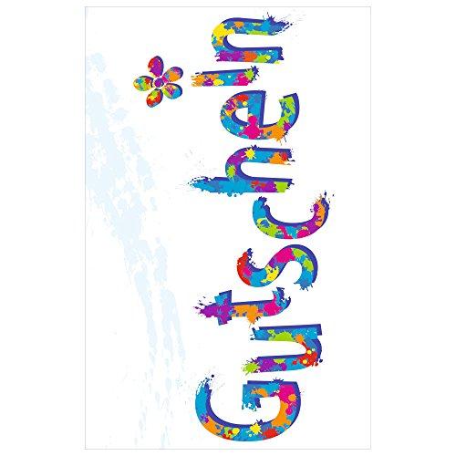 Susy Card 40022574 Gutscheinkarte Allgemein mit Text, Motiv: Schrift Blume