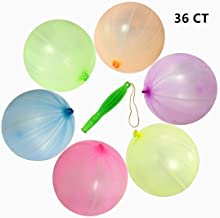 """36pcs Punch Balloons - 12"""" Punching Ball Balloons - Round Punch Latex Balloon with Rubber Band for Kid's Girls Party Favors Balloons Assorted Neon Colors Children's Day Balloon Toy Gift"""