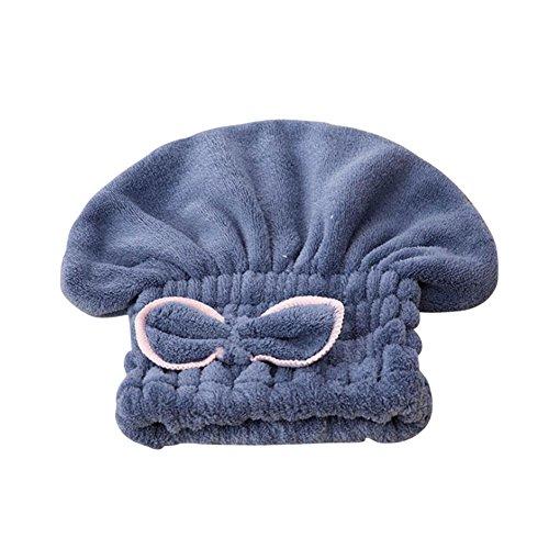 IBLUELOVER Kinder Haartrockentuch Microfaser Kopfhandtuch Super Wasser Absorbent Haarturban Bowknot Weich Kopftuch Dusche Korallenvlies Handtuch Trockene Haarkappe Verdickte Handtuch