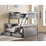 ACME Furniture Haley II Storage Bunk Bed, Twin Over Full, Gray