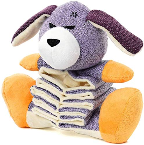 Blnboimrun Dog Toys Plush Dog Toys with Crinkle Paper Partial Stuffed for Large and Medium Dogs Puppy Dog