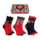 CREA SOCKS Calcetines de Navidad regalos para hombres y mujeres, divertidos calcetines de Navidad, calcetines de regalo novedosos, calcetines de Papá Noel EU 41-46
