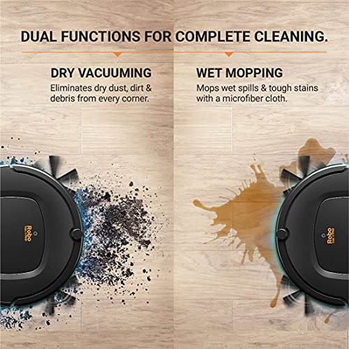 Eureka Forbes Robo Vac N Mop Robotic Vacuum Cleaner with UV Sanitization from Eureka Forbes (Black)