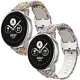 nuosiweilang Compatible con Samsung Galaxy Watch Active/Active2 40mm 44mm Correa,20mm Silicona Accesorio pulsera repuesto para Gear Sport/Gear S2 Classic/Garmin Vivoactive 3/Ticwatch 2 Mujeres Hombres