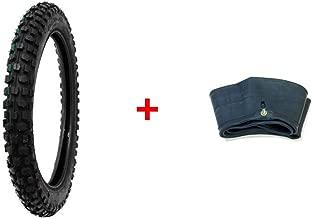MMG Bundle Combo Tire and Inner Tube Size 2.50-14 Inner Tube TR4 Valve Stem, Motorcycle Off Road Knobby