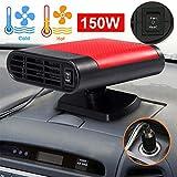 Wonninek Portable Car Heater Defroster 12V Car Heater Cooling Fan Window Demister Fast Heating Quickly Defrosts Defogger Windscreen De-Icer (Red)