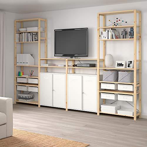IVAR 4 secciones/estantes/armario 344x30x226 cm pino/blanco