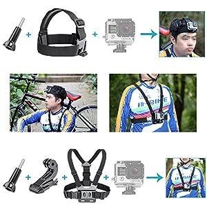 Neewer 50-en-1 Accesorios de Cámara de Acción Kit para GoPro 8 GoPro Hero 7 6 5 4 Hero Session 5 Apeman DJI OSMO Action SJ6000 DBPOWER AKASO VicTsing Rollei Lightdow Campar