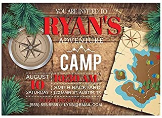 Adventure Camp Birthday Party Invitations
