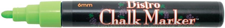 Uchida 480-C-F4 Marvy Broad Point Tip Fluorescent Bistro Chalk Marker, Green