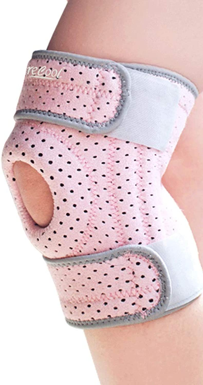 Kneepad Knee Support Women's Sports Knee Pads Basketball Professional Predection Meniscus Knee Predectors (color   Pink, Size   OneSize)