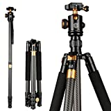 BESTSUGER Camera Tripod, Professional SLR Carbon Fiber Stall Camera Stable Camera Stativ, 360 Degree Ball Head, Detachable Monopod with Carry Bag
