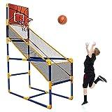 Arcade - Canasta de baloncesto para niños (fácil de montar, incluye 1 pelota y bomba)