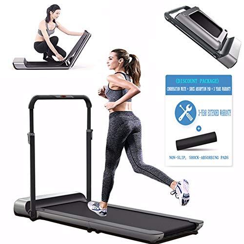 Cinta de correr plegable, máquina de caminar eléctrica, HSTD - máquinas de correr, con mando a distancia y funciones de aplicación, área de la correa para correr 120 × 44 cm