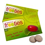 Miracle Frooties - Miracle Fruit Tablets, 20 Count, Turn Sour Foods to Sweet, Taste Tripping, Change Taste Buds. Miracle Berry Tablets 100% Naturally Grown Miracle Berry. (2 Pack)